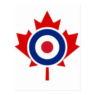 Kräuselnhockey-Ziel Roundel Mod-Kanadas Postkarte