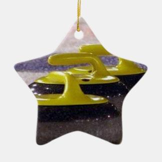 Kräuselnsteine Keramik Stern-Ornament