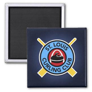 Kräuselnverein St. Louis Quadratischer Magnet