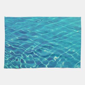 Kräuselungen und Wellenmuster auf Kristall - Handtuch