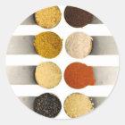 Kraut-Gewürze u. pulverisierte Bestandteile Runder Aufkleber