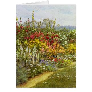 Kraut-und Blumen-Bahn Grußkarte