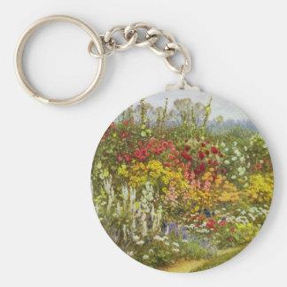 Kraut-und Blumen-Bahn Schlüsselanhänger