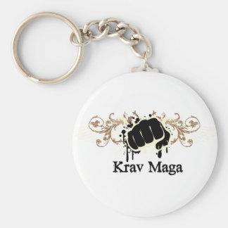 Krav Maga Durchschlag Standard Runder Schlüsselanhänger