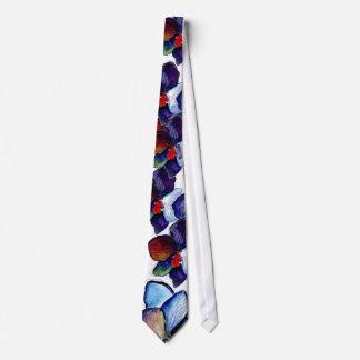 Krawatte der blauen Orchideen-zwei mit weißem