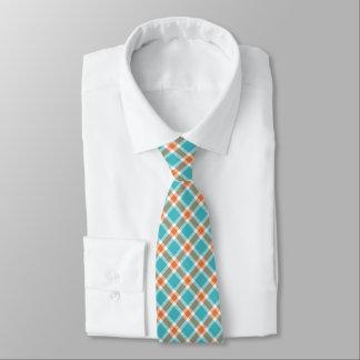 Krawatte der Türkis-Blau-, Orange u. weißerdie