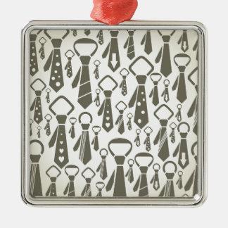 Krawatte ein Hintergrund Quadratisches Silberfarbenes Ornament