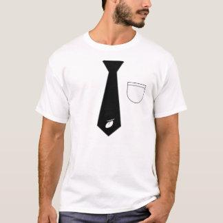 Krawatte gedruckt T-Shirt