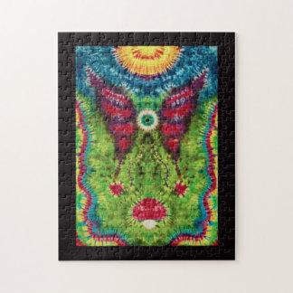 """Krawatte gefärbtes """"fliegender Augapfel-"""" Jigsaw Puzzles"""