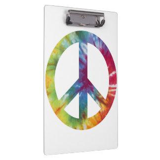 Krawatte gefärbtes Friedenszeichen-Klipp-Brett Klemmbrett