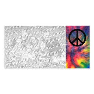Krawatte gefärbtes schwarzes Friedenszeichen Fotokarten