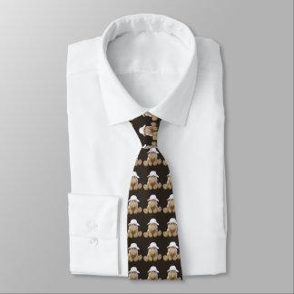 Krawatte lächelnd Schafe brauner dunkler Grund
