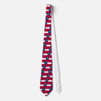 Krawatte mit Flagge von Georgia, USA