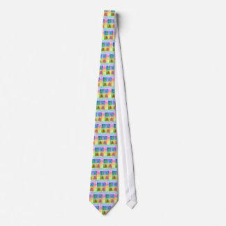 Krawatte - Pop-Kunst-Weihnachtsbäume
