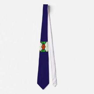 Krawatte, Rauten, weiße Farbe Individuelle Krawatte