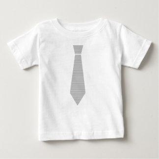 Krawatte - Streifen - Grau und Weiß Baby T-shirt