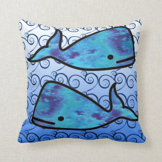 Krawatten-Blauwal-Kissen