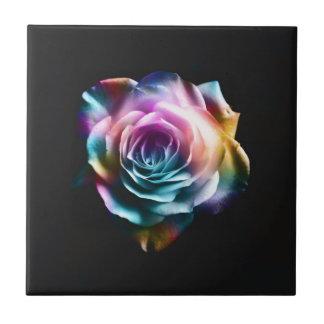 Krawatten-bunte Rose Keramikfliese