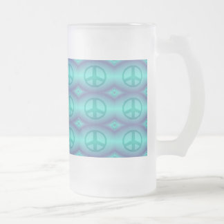 Krawatten-Effekt-Friedenszeichen Mattglas Bierglas