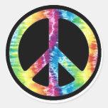 Krawatten-Friedenszeichenaufkleber Runde Sticker