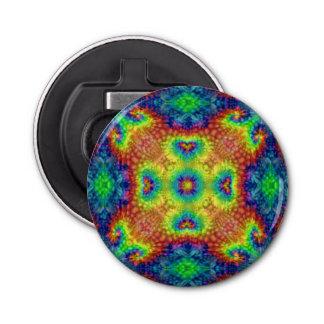 Krawatten-Himmel-Kaleidoskop-   magnetische Runder Flaschenöffner
