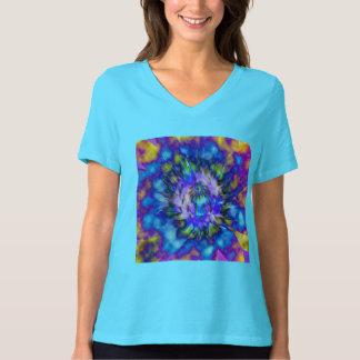 Krawatten-Wasser-Lilien-Entwurf T-Shirt