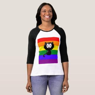 Krazy Kat Bella u. Leinwand Raglan-T-Shirt T-Shirt