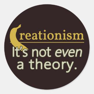 Kreationismus. Es ist nicht einmal eine Theorie Runder Aufkleber