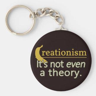 Kreationismus. Es ist nicht einmal eine Theorie Standard Runder Schlüsselanhänger