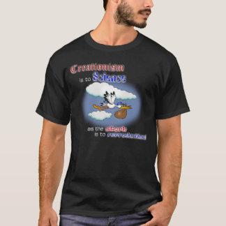 Kreationismus gegen Wissenschaft - dunklen T - T-Shirt