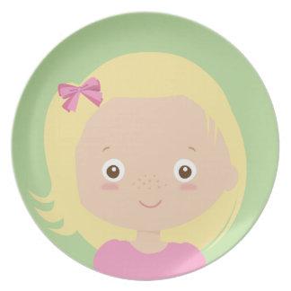 kreativ mit Nahrung - Melaminplatte für Mädchen Melaminteller