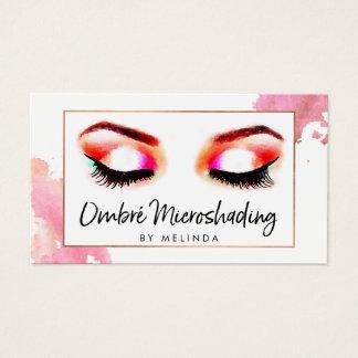 Kreative Aquarell-Augenbrauen Microshading Visitenkarte