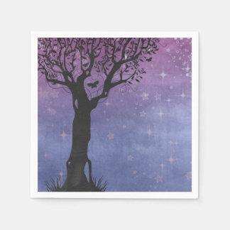 Kreative Baum-Silhouette Servietten