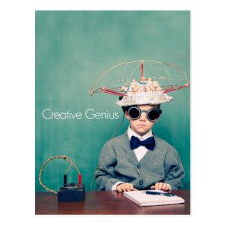 Kreative Genie-Entwürfe Postkarte