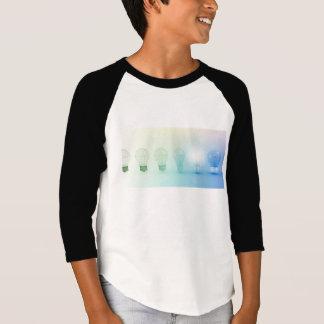 Kreative Glühlampe-Idee abstraktes Infographic T-Shirt