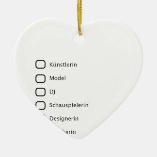 Kreative Hipster Keramik Herz-Ornament