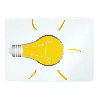 Kreative Idee der Glühlampe 12,7 X 17,8 Cm Einladungskarte