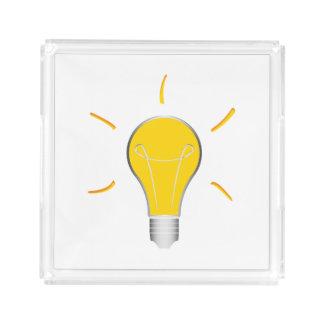 Kreative Idee der Glühlampe Acryl Tablett