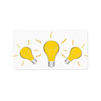 Kreative Idee der Glühlampe Adressaufkleber