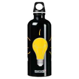 Kreative Idee der Glühlampe Aluminiumwasserflasche