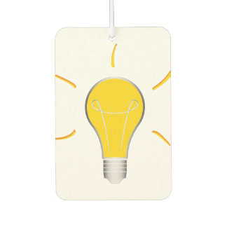 Kreative Idee der Glühlampe Autolufterfrischer