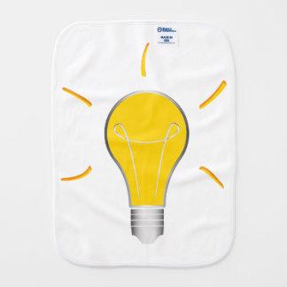 Kreative Idee der Glühlampe Baby Spucktuch