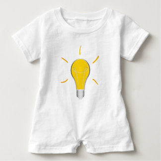 Kreative Idee der Glühlampe Baby Strampler