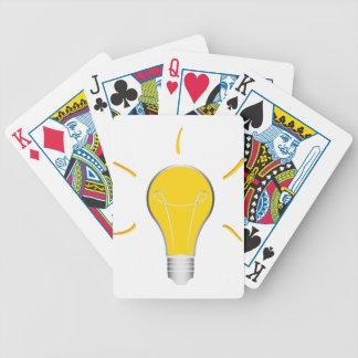 Kreative Idee der Glühlampe Bicycle Spielkarten