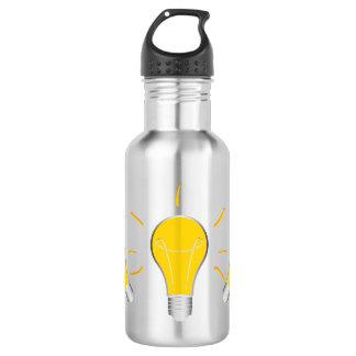 Kreative Idee der Glühlampe Edelstahlflasche