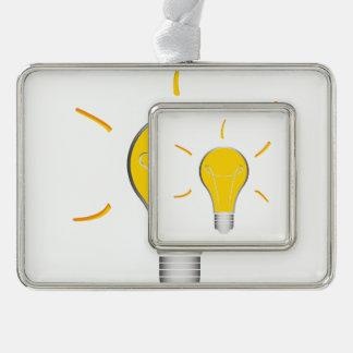 Kreative Idee der Glühlampe Rahmen-Ornament Silber