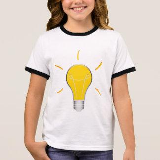 Kreative Idee der Glühlampe Ringer T-Shirt