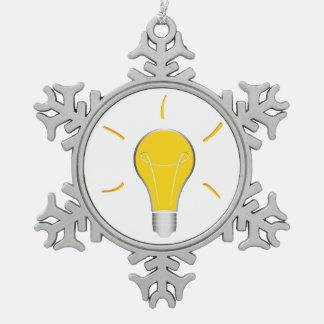 Kreative Idee der Glühlampe Schneeflocken Zinn-Ornament