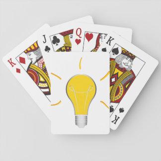 Kreative Idee der Glühlampe Spielkarten