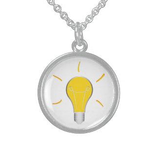 Kreative Idee der Glühlampe Sterling Silberkette